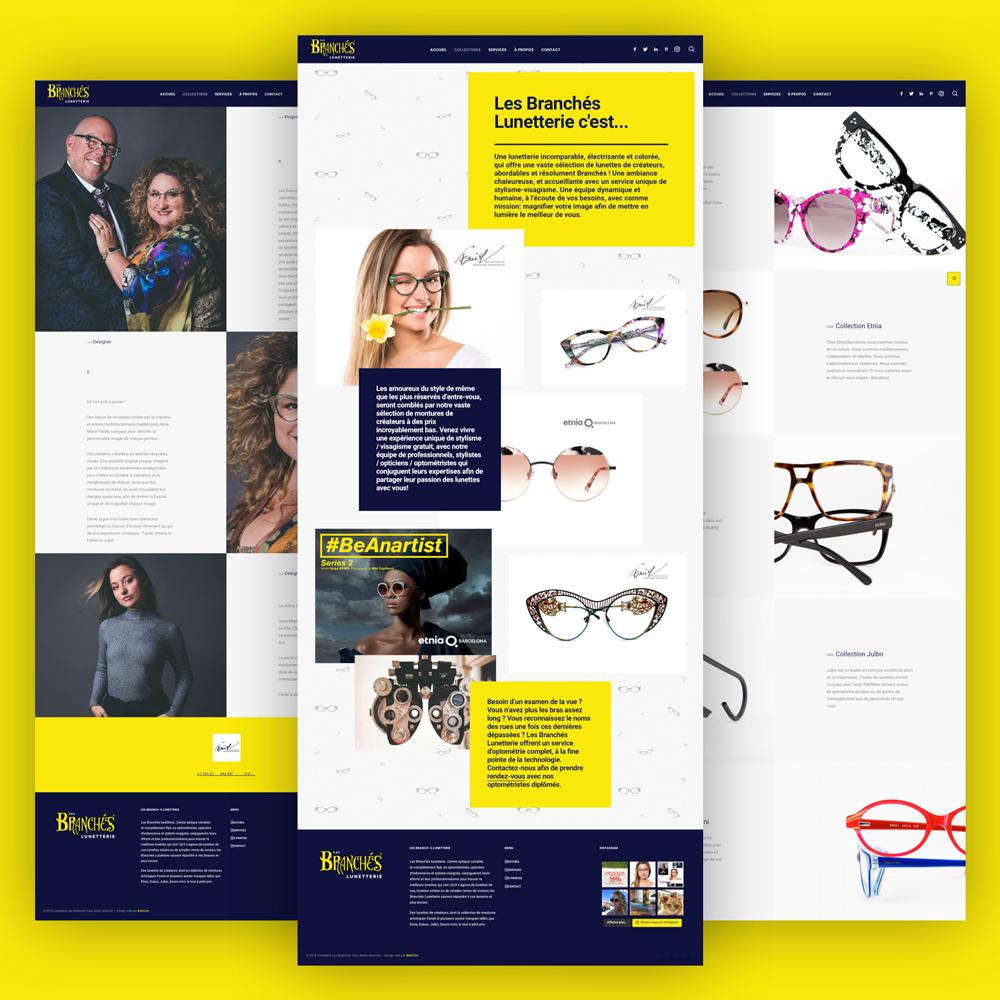 Les Branchés Lunetterie - Nouveau site internet par BeeCom